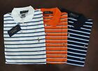NWT Ralph Lauren Men's Soft-Touch Striped Pima Interlock Polo Shirt S M L XL $90