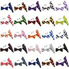 Mens Bow Tie Set UK Striped Bow Ties Sets For College Uniform - Bowties UK