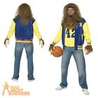Teen Wolf Costume 80s Halloween Mens Fancy Dress Outfit Adult Werewolf + Wig