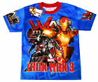 Boys Avengers IRON MAN vibrant blue summer t-shirt Sz 6,8,10,12 Age4-8y FreeShip
