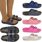 Ladies Womens New Summer Holiday Strap On Sandals Flip Flop Flat Shoes Size Uk