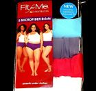 Womens Fruit of the Loom Fit For Me Plus Size 5 Pack Microfiber Briefs ALL SIZES