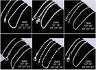 Various Stunning 925 Sterling Silver Filled 2MM Necklace Chains Unisex 16 - 24''