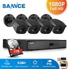 SANNCE HD 1080N TVI 8CH 4in1 DVR 1500TVL Outdoor Home Security Camera System 1TB