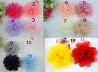 "Wholesale organza cabbage hat corsage flower sewing Appliques Diy 4.3"" U-pick"