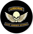 US Army 101st Airborne Skull Wings Wall Window Vinyl Decal Sticker Military