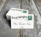 PRIVATE MAILING POSTCARD WEDDING PLACE CARDS, TAGS or ESCORT CARDS #167