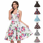FREE BELT + Housewife Rockabilly 50s 60s Vintage Retro Evening Swing Pinup Dress