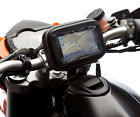 Motorcycle Locking Strap Mount + Water Resistant Case For Garmin Nuvi Sat Nav