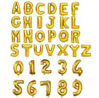 "16"" 40"" Letter & Number Foil Balloons Birthday Wedding Party Decor Gold Silver"