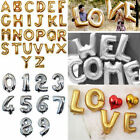 "16"" Letter & Number Foil Balloons Birthday Wedding Party Decoration Gold Silver"