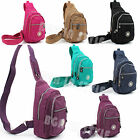 NEW Ladies Nylon Multi Pocket Single Shoulder Backpack Rucksack Bicycle Bag