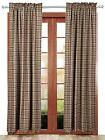 Jackson Country Farmhouse Lined Curtain Set Green Red Tan Plaid with Tie Backs