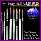 Oval 3D Kolinsky Sable Acrylic Nail Art Brush Watercolor Hair Artist Cats Tongue