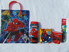 SPIDERMAN 5pc Mixed Items-Toothbrush, Cup, Wet Wipes, Shower Gel, Gift Bag