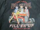Last Stop Full Service Filler Up Hot Rod Girl Gas Pumps Work Shirt Dickies