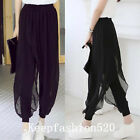 Summer Fashion Women Comfortable Modal Chiffon Halen Yoga Casual Pants Q626
