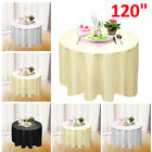 "120"" Round Polyester Tablecloth Table cover Cloth White black ivory - Wedding"