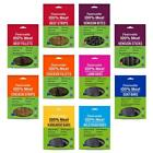 FEELWELLS REAL MEAT TREATS Dog Natural Air Dried Chicken Beef Venison Goat Lamb
