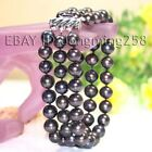 s013 3 row AA 7-8mm 8-9mm Black White Pink Fresh Water  Pearl Bracelets