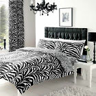 New Duvet Cover And Quilt Cover Zebra Skin Print  Bedding Set Single Double King