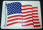 "USA WAVING FLAG CAR MAGNETIC SIGN 8"" x 12"" NEW"