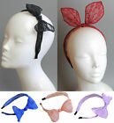 Convertable Bunny Ear Bow Alice Band Headband Lace Hair Women Design Party Wire