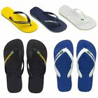 Mens Boys Genuine Havaianas Brasil Logo Flat Flip Flops Assorted Colours Size
