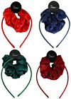 Satin Alice Band with Hair Scrunchies (3 Piece Set) Assorted colours available