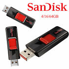 Genuine SanDisk Cruzer 4GB 16GB 64GB USB 2.0 Flash Drive SDCZ36 Free Shipping EA
