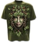 Spiral OAK QUEEN - T-Shirt Olive L022M104