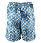 "JOOP! ""Hawaii"" mens surf board shorts swim trunks floral (blue/white) NEW"