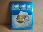 BALLANTINE ALE Beer Advertising Thick Beveled Cardboard Sign  1970 Vintage