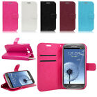 PU Leather Wallet Flip Stand Case Cover Pouch Skin For Samsung + Free Protector