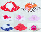 Cute Toddlers Infants Baby Girls Soft cotton Beanie Flower Sun Hat Cap 9 Color