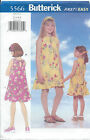 Butterick 5566 Sew Pattern DRESS Loose Fitting Slightly Flared Child 2-3-4-5