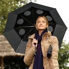 Windproof StayDry Compact Folding Umbrella Brolly Rain Vented Downpours