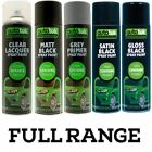 4 x AUTOTEK GREY PRIMER GLOSS MATT SATIN BLACK CLEAR LACQUER PAINT SPRAY CANS