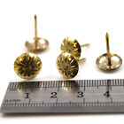 12 x 17mm GOLD UPHOLSTERY FURNITURE REPAIR PINS CHAIR TACK DOME NAIL STUDS H578