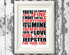 T Rex Mark Bolan Jeepster Song Lyric Posters Prints Typography Designs