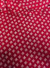 "Red & White Wavey Diamond Pattern on Stretch Modal Spandex Fabric- 58/60"" Wide"
