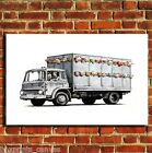 BANKSY LIVESTOCK LORRY CANVAS WALL ART BOX PRINT PICTURE SMALL/MEDIUM/LARGE