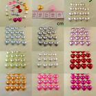 100 Heart Pearl Bead Flat Back 10mm Wedding Confetti Scatter Scrapbooking Craft