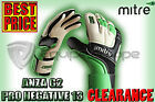 *BRAND NEW* MITRE ANZA G2  PRO NEGATIVE 13 GKGLOVES WHITE/BLACK/GREEN-RRP:£55.00