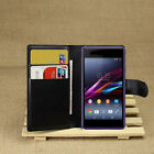 Luxury Flip Magnetic Card Wallet PU Leather Case Stand Cover For Sony Xperia E1