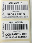 Personalised PAT Testing Barcode Appliance ID Labels Asset Stickers