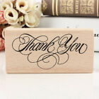 Vintage Thank You Wooden Rubber Stamp Craft Wedding Party 4 Styles To Choose