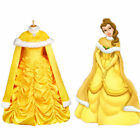 Beauty And The Beast Bell Princess Cosplay Women's Pretty Dress Cape Halloween