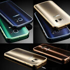 Fashion Metal Bumper Frame+Acrylic Back Cover Case For Samsung Galaxy S6 S6 Edge