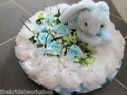 """12"""" Child Baby Funeral Flowers Grave Tribute Floral Based Posy With Card"""